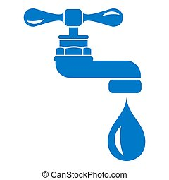 Water tap icon, simple style