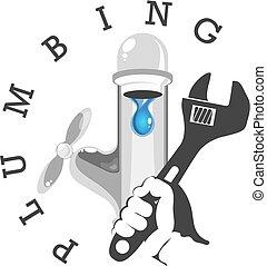 Water tap repair symbol