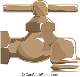 Water tap - Vector icon isolated