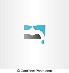 water tap vector logo icon