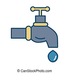 water tap with drop icon
