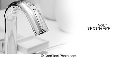 Water tap with the copy space
