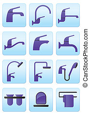 Water taps and bathroom accessories