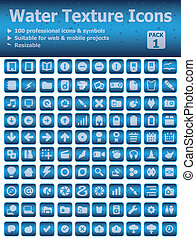 Water Texture Icons Pack 1