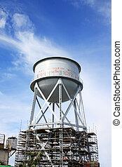 Water thank - Rusty Water Tank in Alcatraz