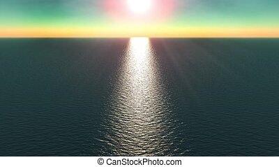 Water / the sea / ocean / sun