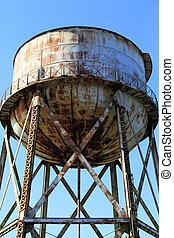 Water tower, Alcatraz Penitentiary, Alcatraz Island, San...