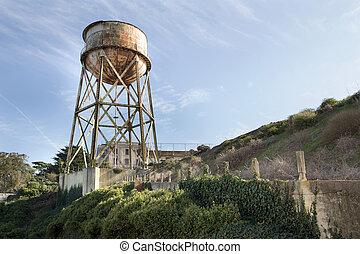 Water Tower at Alcatraz Island