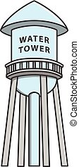 Water tower Doodle Illustration cartoon