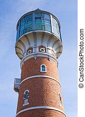 water-tower, em, pisz, polônia