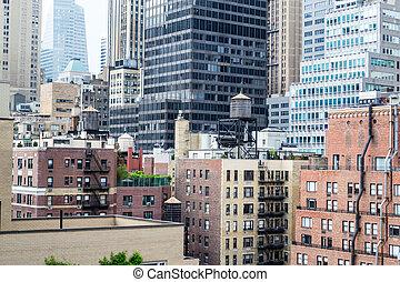 Water tower in midtown Manhattan