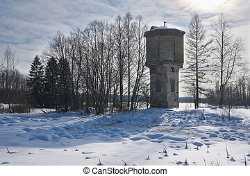 Water tower in Russia
