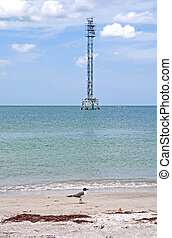Water tower in the ocean