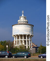 water, tower.