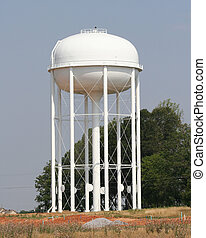 New city water tower construction is just completed, the water tower will deliver water to homes & businesses