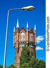 Water tower with lantern in Rostock