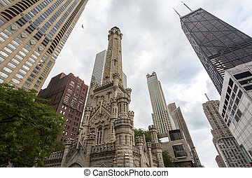 Water towers in Chicago, Illinois