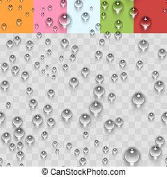 Water Transparent Drops Seamless Pattern