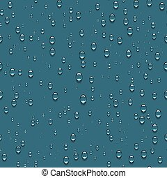 Water Transparent Drops Seamless Pattern