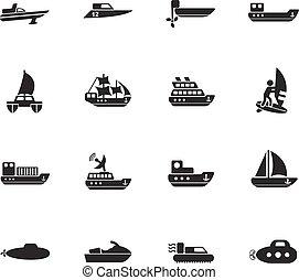 water transport icon set