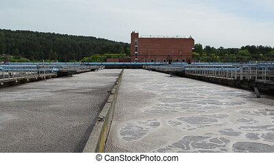 water treatment basin