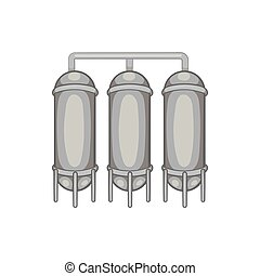 Water treatment for beer production icon