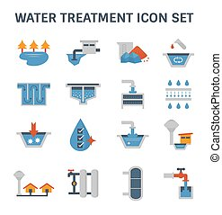 water treatment icon - Water treatment system and water...