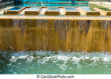 Water treatment plants of the Waterworks in Thailand. Water...