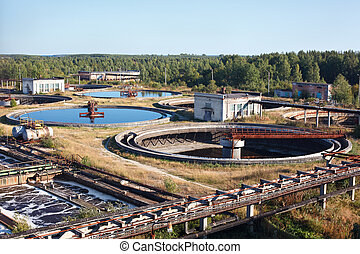 Water treatment, recycling, settling on sewage water station