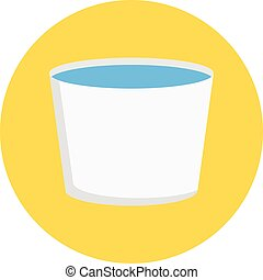 water tub vector flat colour icon