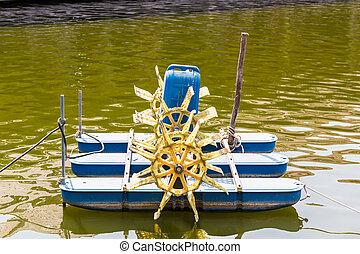 Water turbine.