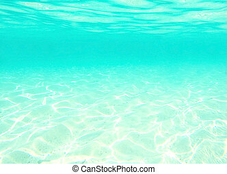 water under the waves, blue abstract background