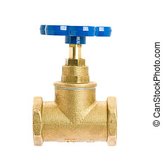Water valve isolated on white