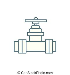 Water valve linear icon concept. Water valve line vector sign, symbol, illustration.