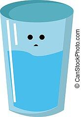 water, vector, achtergrond., illustratie, witte , glas