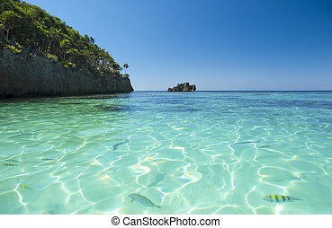 Water view in Caribbean