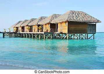 Water villas in Maldives