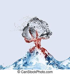 Water Volcano Erupting