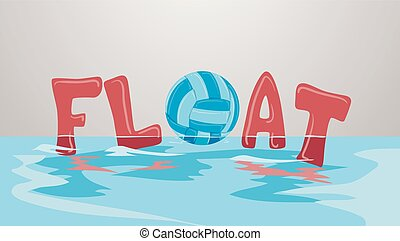Water Volleyball Ball Float Illustration