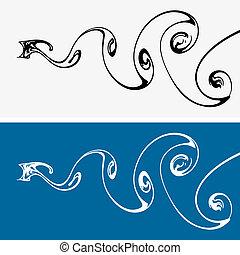Water vortex paths