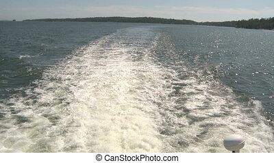 Water Wake - Water wake of small passenger Boat