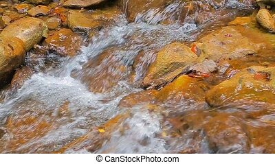 water washes the stones. Slow motion. - ater washes the...