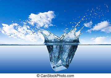 Water Wave and air bubbles