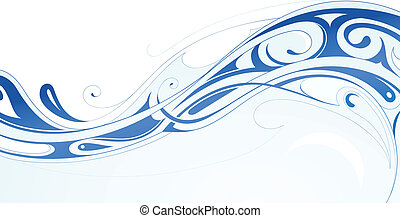 Water wave - Abstraction with water wave shaped from swirls