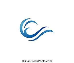 Water wave Logo Template - Water Wave symbol and icon Logo...