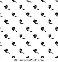 Water wave pattern vector