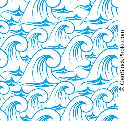 Water wave seamless pattern