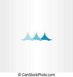 water wave sign logo summer blue symbol