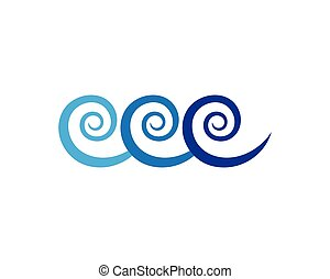 Water wave symbol and icon logos  Water wave symbol and icon