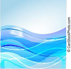 Water waves blue background design